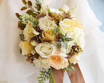 artificial flower wedding brides bouquets rose