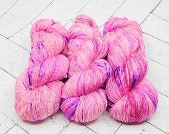 Barbie- Hand-dyed Superwash Sock Yarn
