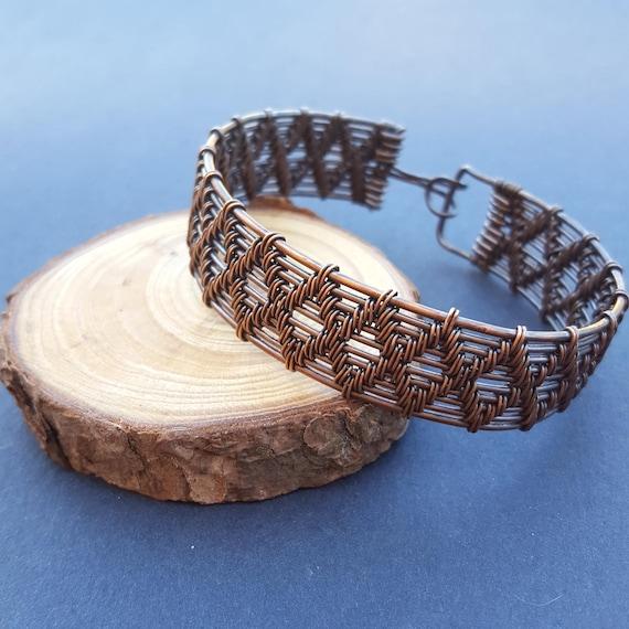 Große Kupfer Armband Draht umwickelt Armband Kupferdraht