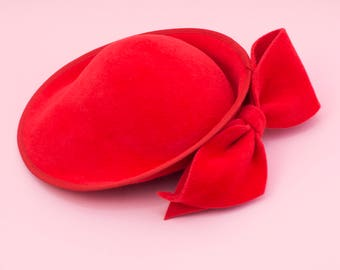 Felt Percher Bow Hat, For the Races, Mother of the Bride - Katie