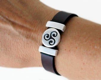 Triskele bracelet, gift for  husband, Celtic bracelet for men, Celtic gift idea, Irish gift idea, Celtic bracelet for women, Irish jewelry