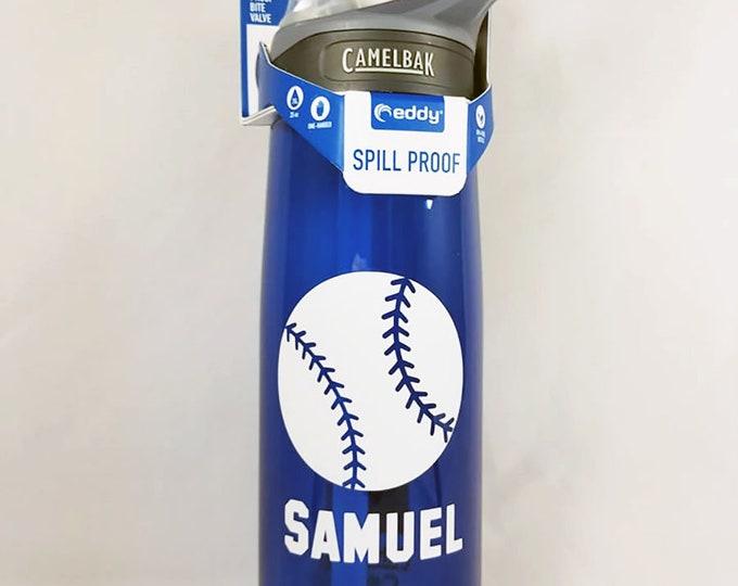 Personalized CamelBak ® Water Bottle - Baseball, Name, Bottle, Hydrate,  Custom, Bite Valve, Team, Spirit, Little League, Softball .75L Eddy