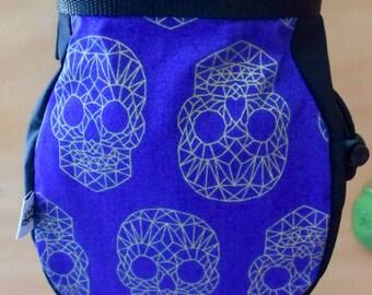 Geometric Skull print Chalk Bag