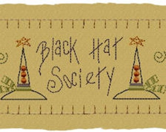 MACHINE EMBROIDERY-Black Hat Society Towel Band-Large Split (2 parts)-Instant Download