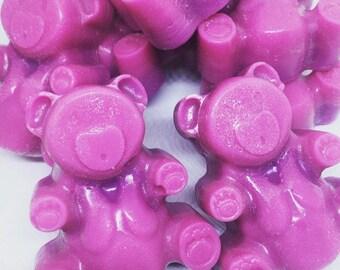 Fizzy Berry Pop Highly Scented Wax Melt Teddy Bear, Wedding Favours, Teddy Tarts