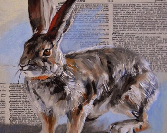 Well Defined giclee of a desert cottontail rabbit