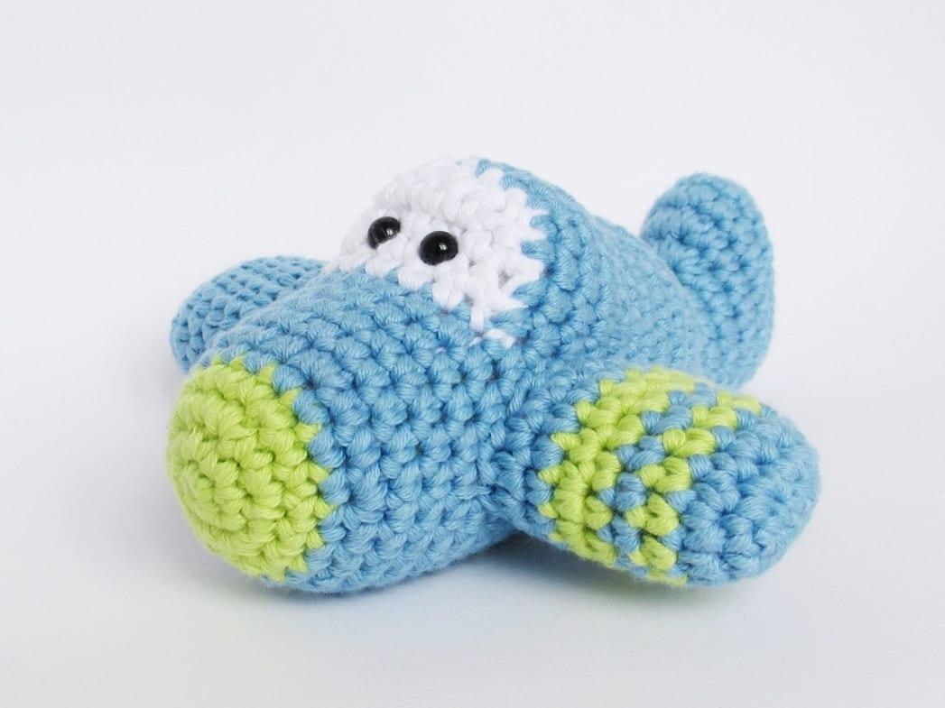 Häkeln Sie Spielzeug Baby Rattle Amigurumi Flugzeug