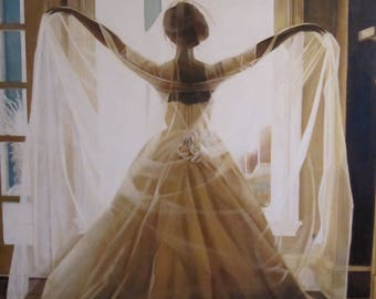 Custom Wedding Portrait Oil Painting SOLD