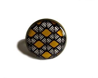BOHO RING - Shield Ring - Tribal Ring - Ethnic Ring - Big Boho Ring - Boho Jewelry - Tribal Jewelry - Ring for Women - Women's Ring -for her