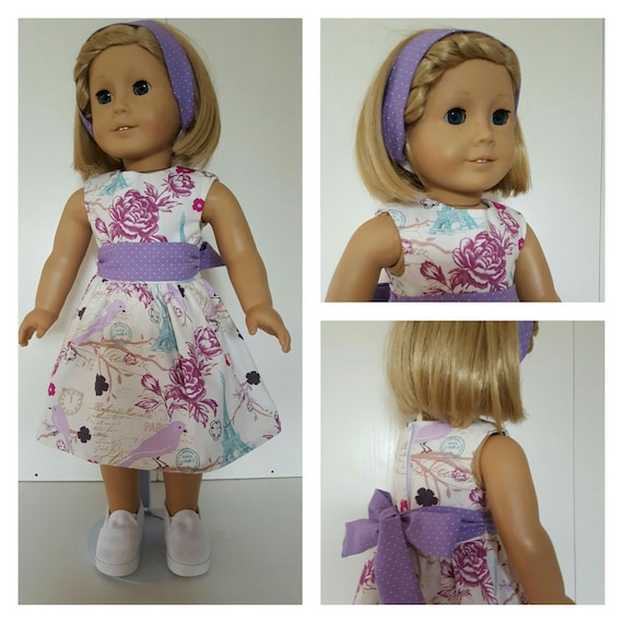 American Handmade Paris Dress for Grace  18 and 14 Inch Doll Clothes
