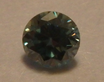 STUNNING blue green MOISSANITE .20CT  3.68mm