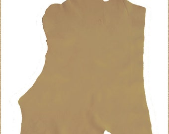V320-M-Coupon FLANK Camel leather COWHIDE.