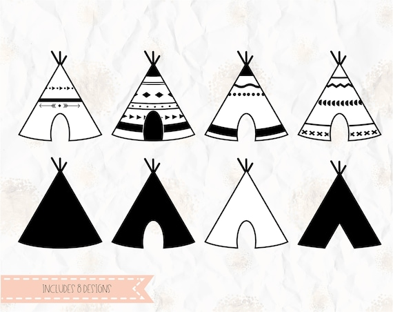 Teepee, tent, tribal, SVG (layered), PNG, DXF, Pdf for cricut ...