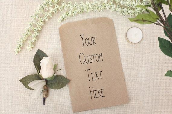diy wedding favor bags custom text printed for you