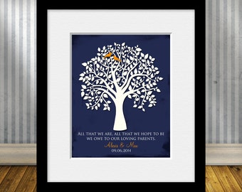 All That We Are, Wedding Tree Print, Thank You Gift for Parents, Bride's Parent Gift, Groom's Parent Gift, Wedding Day Gifts