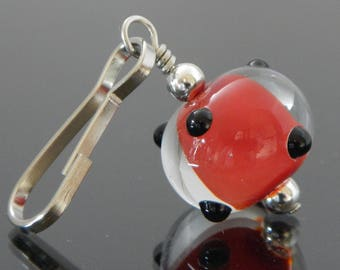 Zipper Pull Charm | Beaded Zipper Pull | Decorative Zipper Pull | Zipper Pull for Purses | Artisan Lampwork | Artisan Zipper Pull | Glass