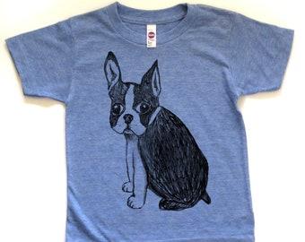boston terrier tshirt, boston terrier t, dog tshirt, cute boston terrier shirt, illustration, girl's shirt, boy's shirt, free shipping