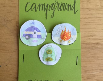CAMPGROUND planner clips for journals or planners