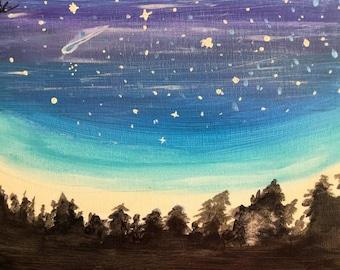 Sky's Oceans, 11x14 Painting