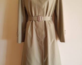 Vintage Sanro Trench Coat Over Coat with Belt AU12 Size Medium