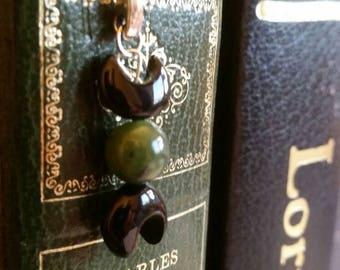 Triple Goddess/moon Tibetan silver bookmark