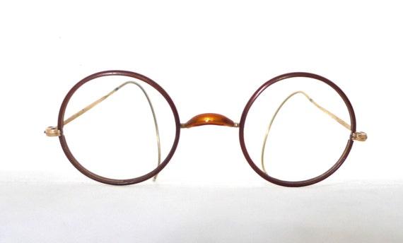 Small. Rare Small Antique NOS Round Eyeglass Frame Marked