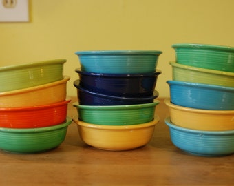 Vintage Fiesta 4 3/4 berry bowls