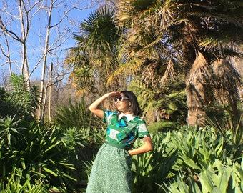 Emerald green Mid Century Mod dress