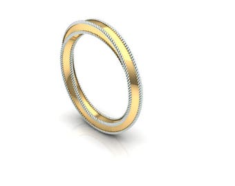 Twisted Band 14K Yellow Gold, Unique Band