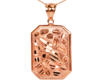 10k Rose Gold Nugget Necklace