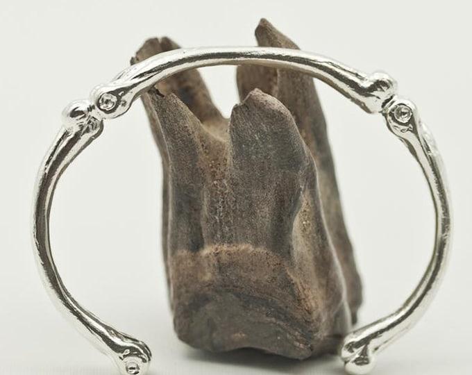 Skeleton Bangle | Sterling Silver Bracelet | Silver Bone Bracelet | Gothic Bangle | Gothic Bracelet | Layering Bangle | Stacking Bangle