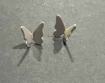 Mini butterfly earrings. Earrings of small butterflies. Silver earrings. Silver butterflies. Handmade