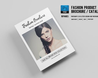 Fashion Product Catalog Template | Product Display Brochure | Photoshop and Elements Template | Instant Download