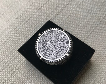 """Beautiful Sterling Silver Ring crafted """"99 names of God"""" in Arabic"""
