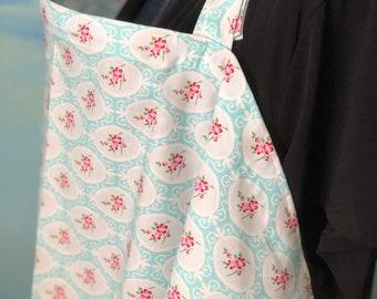 Breastfeeding nursing cover like hooter hider  cool cotton  cameo rose