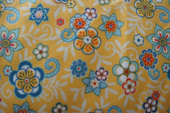 Riley Blake Designs Samantha Walker Serenata  C3262 Yellow Floral fat quarter