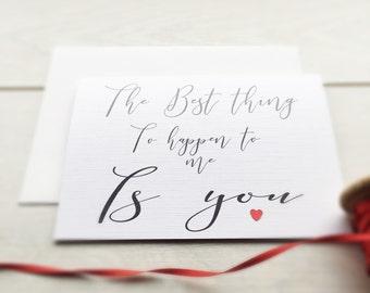 Valentine Card, Romantic Card, Romantic Valentine Card, Card for Him, Card for Her, Valentine's Day, His birthday Card, Her Birthday Card