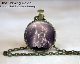LIGHTENING BOLT Pendant •  Electrical Storm •  Thunder and Lightening •  Night Sky •  Gift Under 20 • Made in Australia (P0347)