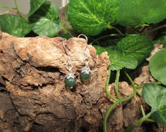Earrings with MOSS agate
