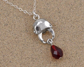 Stag Beetle Pendant Necklace - Sterling Silver