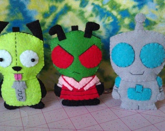 Invader Zim and Gir