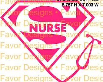 Super Nurse Stethoscope SVG JPEG Cut File Digital Download, Silhouette File, Circuit File, Nurse Svg, Stethoscope Svg, Clip Art, SVG, SVGs