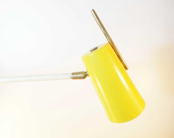 Lamp stem metal yellow and white - Midcentury sconce