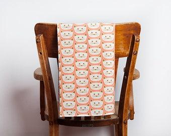 Cat Tea Towel, Cat, Tea Towel, Kitty, Cat Decor, Cat Lover, Cat Gift, Kitty Gift, Cat Kitchen, Hostess Gift, Kitchen Gift, Kitten, Peach