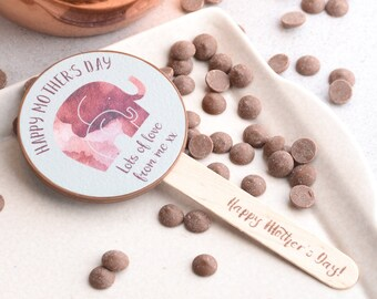 Personalised Mother's Day Chocolate Lolly - Mother's Day Gift - Personalised Gift for Mum - Present for Mum - Hand made Belgian Chocolate