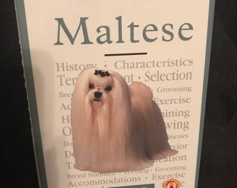 Vintage Maltese Book 1997 Dog Book SALE PRICE was 5.99 now 3.99
