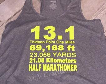 Halfmarathon Marathon shirt tshirt 5k 10k 13.1 26.2 shirt Workout Exercise Fit Active