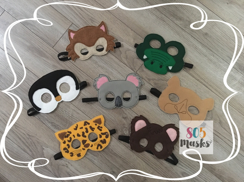 Zoo Tier Masken Set 2 Kinder Masken Kostüme Koala-Maske