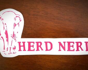 Vinyl Decal - Herd Nerd Elephant