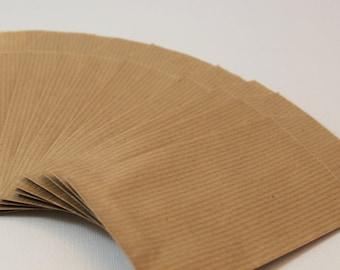 Set of 50 7 kraft gift bags x 13.5 cm